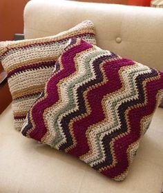 Free Crochet Pattern: Contempo Striped Pillow