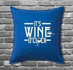 Wine O Clock 20  Cushion Cover, Printed Gift, Home Decor