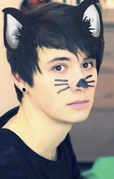 So, I decided to turn Dan into a cat today. If you want to repin, please give credit to me! @OhMyGosh2