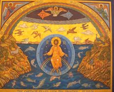 Lessons 9 from the Divine Office of the Nativity of Our Lord and Saviour Jesus Christ: John (Day Mass Gospel); Treatise 1 on . Religious Images, Religious Icons, Religious Art, Early Christian, Christian Art, Creation Myth, Cocoon, Christ The King, Byzantine Icons