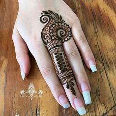 Henna Mehndi Design for beginners Very easy design Easy Mehndi Designs, Henna Hand Designs, Latest Mehndi Designs, Bridal Mehndi Designs, Mehandi Designs, Mehndi Designs Finger, Mehndi Designs For Girls, Mehndi Designs For Beginners, Mehndi Designs For Fingers
