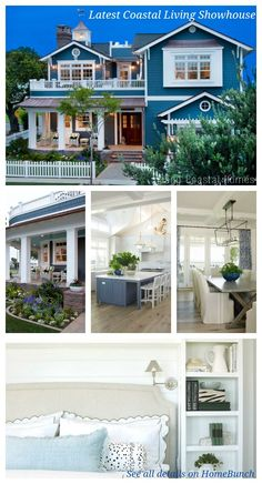 beach cottage style Coronado Island Beach House with Coastal Interiors Country Chic Cottage, Beach Cottage Style, Coastal Cottage, Coastal Homes, Beach House Decor, Coastal Style, Coastal Living, Style At Home, Coronado Island