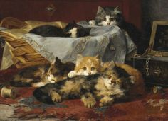 Kittens Resting After Play Private Collection