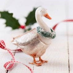 The Christmas Home Christmas Goose Tree Decoration (£12) ❤ liked on Polyvore featuring home, home decor, holiday decorations, glass christmas tree decorations, christmas tree decorations, handmade christmas tree ornaments, xmas tree decorations and christmas tree baubles