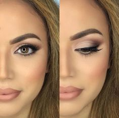 30 Wedding Makeup Ideas for Brides - Bridal Glam - Romantic make up ideas for the wedding - Natural and Airbrush techniques that look great with blue, green and brown eyes - rusti evening glow looks - thegoddess.com/wedding-makeup-for-brides #bridalmakeuplooks