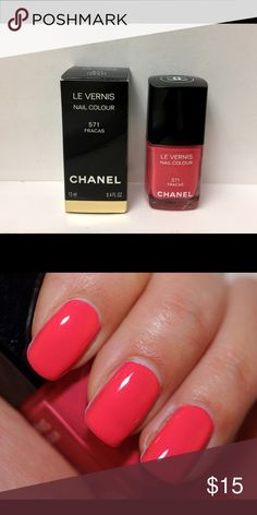 Chanel Fracas Nail Polish Used one time. Limited Edition. Thanks to Temptalia for 2nd pic. CHANEL Makeup