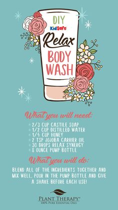 DIY Essential Oil Body Wash: Relax Essential Oils Blend Uses & Benefits BeautyBl Relaxing Essential Oil Blends, Diy Body Wash, Savon Soap, Soaps, Eye Makeup, Plant Therapy, Pure Oils, Perfume, Carrier Oils