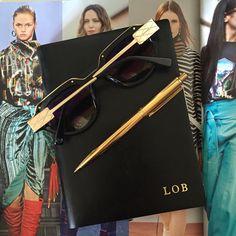 Balmain & Black Initial Leather Personalised Notebook