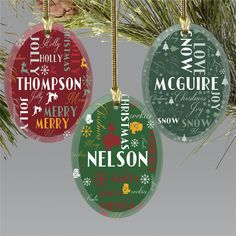 Give each member of the family a fun personalized ornament to hang on their tree personalized with their favorite part of the holiday season or their family's names to make a truly unique gift this year #christmasgiftideas #personalizedchristmasornaments #familyornaments #glassornaments Personalized Christmas Ornaments, Great Christmas Gifts, Glass Ornaments, Christmas Tree Ornaments, Holiday Words, Word Art Design, Glass Art, Names, Symbols