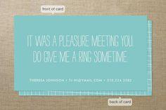 fun business card!