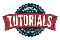 Create a clean retro badge in Adobe Illustrator   Denis Designs   Free Photoshop…