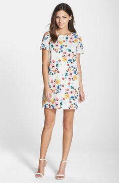 CeCe by Cynthia Steffe 'Kayte' Floral Print Shift Dress | Nordstrom