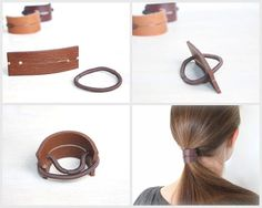 Step Up Your Favorite Go To Hairstyle!!!  -Update your look and stay comfortable at the same time with these leather ponytail holders! Our holders are stylish and sleek but so simple and versatile. -Best of all, you can use your own hair bands so it will always fit right and when the elastic breaks you can just slip it out of the leather and put a new one in!!! -You can order them 2 (for finer to medium hair thicknesses or wearing half up), 3 (for medium to thick hair) or 4 (for thick hair…