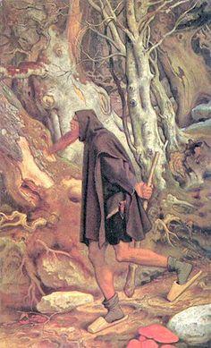 """En algunos mitos celtas el cielo y la tierra fueron creados por gigantes a quienes los hombres consideraban dioses. """"Rübezahl"""" (1859), óleo de Moritz von Schwind. (Public Domain)"""