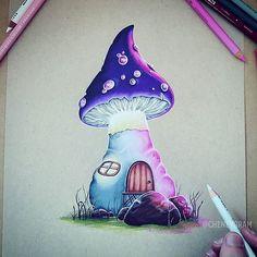 Mushy   #Cheneygram #Brisbane #Australia #Bulimba #Mushroom #FairyTale #Fable #Drawing #Sketch