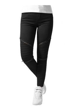 Pantalon FEMME BIKER URBAN CLASSICS STRETCH NOIR - femme legging bas zip  noir Slim PANTALON urban STRETCH jogpant urban classic 26a9d17ebbd