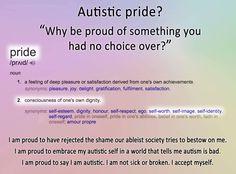 Autistic Pride #Autism #Autistic #AutismAcceptance #Pride