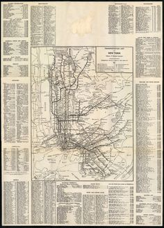 NYC Vintage Transportation Map--dizzying