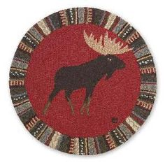 Cinnamon Moose Wool Accent Rug - 36""