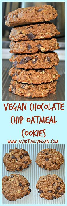 Use your leftover oat milk pulp to make these healthier, delicious, soft & chewy Chocolate Chip Oatmeal Cookies.