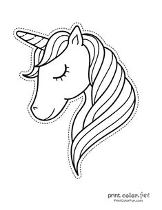 100 magical unicorn coloring pages: The ultimate (free!) printable collection, a. - 100 magical unicorn coloring pages: The ultimate (free!) printable collection, at Print Color Fun. Unicorn Drawing, Unicorn Art, Magical Unicorn, Unicorn Head, Party Unicorn, Unicorn Birthday Parties, Unicorn Coloring Pages, Coloring Book Pages, Printable Colouring Pages