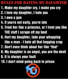 9 rules to dating my daughter