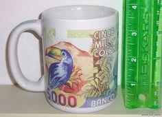 "Costa Rica 3 3/4"" Ceramic Coffee Mug Cup"