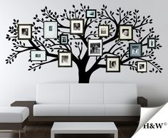 Family Photo Tree Wall Decals  Vinyl Sticker  Home di HomeWall, $152,00