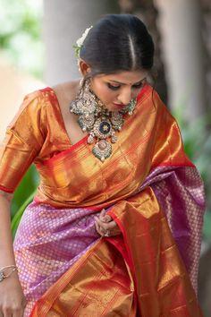 Indian Fashion Modern, Indian Fashion Trends, Dress Indian Style, Indian Outfits, Kanjivaram Sarees Silk, Ikkat Dresses, Pattu Saree Blouse Designs, Indian Bridal Sarees, Trendy Sarees