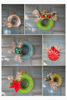 JellO Molds and Bundt Pan wreaths: monkeybox All Things Christmas, Christmas Home, Vintage Christmas, Christmas Wreaths, Christmas Ornaments, Merry Christmas, Christmas Projects, Holiday Crafts, Christmas Ideas
