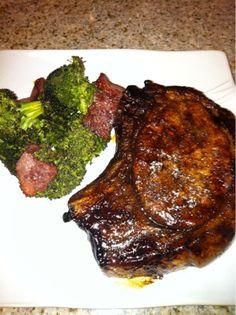 Balsamic Glazed Pork Steak