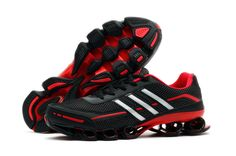 Authentic Adidas Bounce Titan 3rd III Third Men Black Red Running Shoes