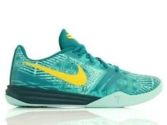 NEW NIKE KOBE MENTALITY TEAL GREEN YELLOW 704942-300 LAKERS BRYANT SZ 10.5 #Clothing, Shoes & Accessories:Men's Shoes:Athletic #socialmatic05 $95.00
