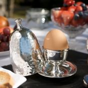 Culinary Concepts silver plated Egg Cup - breakfast in bed with a touch of elegance!