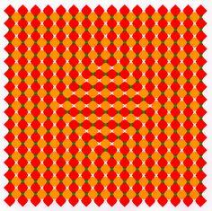Stare at the shape in the middle then move your head around. Moving your head causes it to continually change shape.