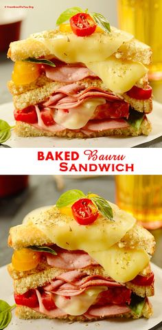 BAKED Bauru Sandwich (Bauru de Forno) -- An overnight, super easy, and DE-LI-CIOUS baked sandwich... It can be served for breakfast, brunch, lunch or dinner -- a both adult and children favorite... So cheesylicious!!!! #sandwich #baked #easy