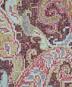 PAISLEY CASCADE LILESTONE WOOL Fabric from Liberty