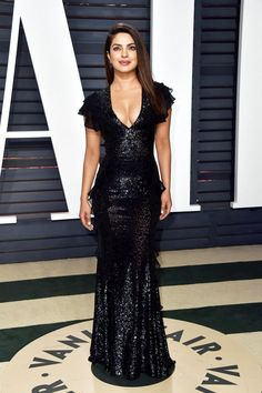 Priyanka Chopra In Michael Kors Collection - At the Vanity Fair Oscar Party