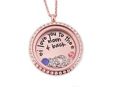 I Love You To The Moon And Back Rose Gold Locket