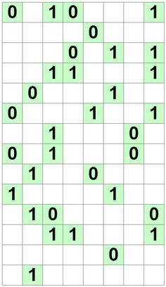 Number Logic Puzzles: 22669 - Binary size 4