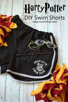 DIY Hogwarts Swim Team Shorts fun Harry Potter Fashion