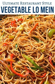 chinese food Best and easy authentic chinese vegetable lo mein recipe. Fix your dinner or lunch under 30 mins with this healthy noodle stir fry with cabbage and more veggies and best lo mein sauce to make this delicious chinese food menu item. Chinese Food Menu, Chinese Chicken Recipes, Chinese Noodle Recipes, Healthy Chinese Food, Easy Chinese Food Recipes, Vegetarian Chinese Recipes, Homemade Chinese Food, Quick Vegetarian Dinner, Chinese Vegetables