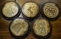 Hey, I found this really awesome Etsy listing at https://www.etsy.com/ca/listing/266495097/game-of-thrones-coaster-set-handmade