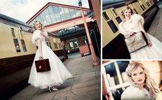 All Aboard the Vintage Express ~ Vintage Bridal Shoot at the Severn Valley Railway...