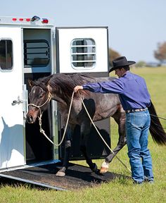 Training Tip of the Week: Stopping a horse from kicking in the trailer.