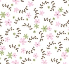baby girl pattern. pink, green, brown