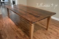 Reclaimed Wood Harvest Table with epoxy/polyurethane finish Ontario Threshing Floor Board Top Showroom in Cambridge,ON by HD Threshing Floor Furniture www.hdthreshing.com