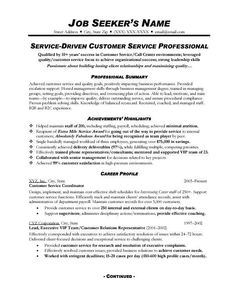 customer service resume 3