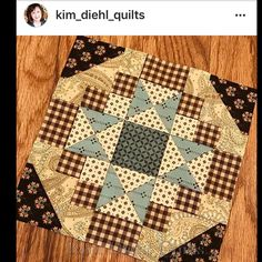 Oh my gosh . Look what Kim Diehl just shared. A peek of her up coming Fiddlesticks and Fancies Fabric Collection ... she made a mini. NOW I'm Enormously in love with the block AND her new line! Adding this to my must have list!! #kimdiehlquilts #fiddlesticksandfancies #henryglassfabrics