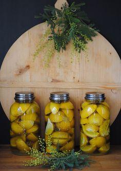 Pickled lemons.
